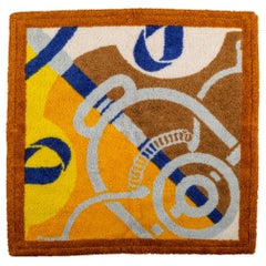 New Hermes Terry Cloth Square Bath Towel in Box