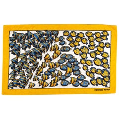 New Hermes Vintage Style Yellow Fish Beach Towel