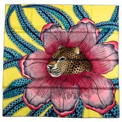 New Hermes Yellow PInk Baobab Silk Scarf