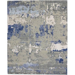 New High and Low Texture Rug with Contemporary Abstract Style