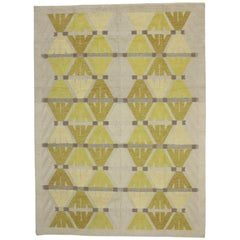 New Contemporary Rug with Postmodern Bauhaus Style