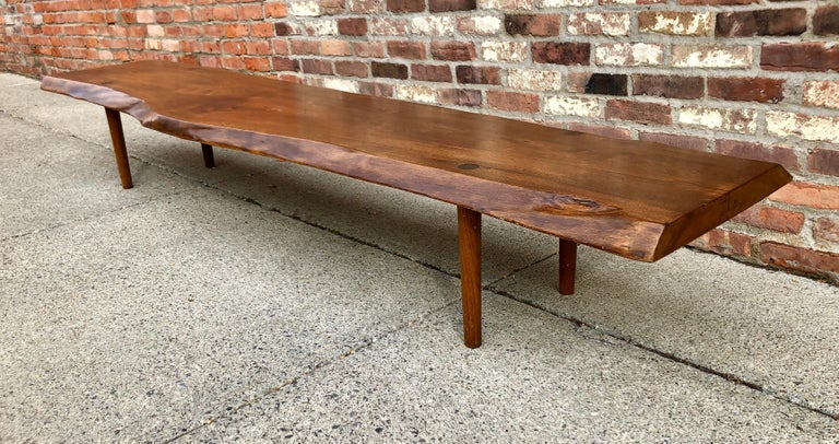 American New Hope School Black Walnut Table/Bench For Sale