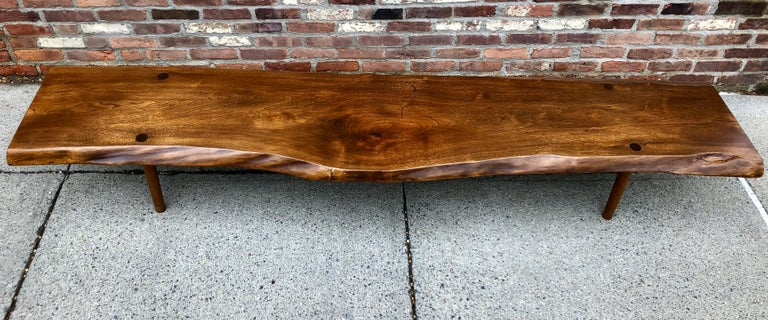 New Hope School Black Walnut Table/Bench For Sale 1
