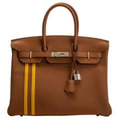 New in Box 2018 Hermes Birkin 35 Gold Officier