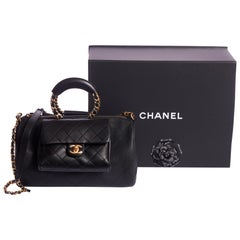 New in Box Chanel 2 Way Black Caviar Handbag