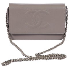 New in Box Chanel Etoupe Caviar Woc Crossbody Bag