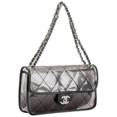 New in Box Chanel PVC Flap With Leather Trim Bag