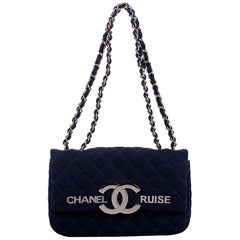 New in Box Chanel Rare Navy Cruise Flap Bag