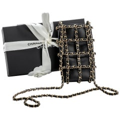 New in Box Chanel VIP Cell Phone Case Black Gold Crossbody