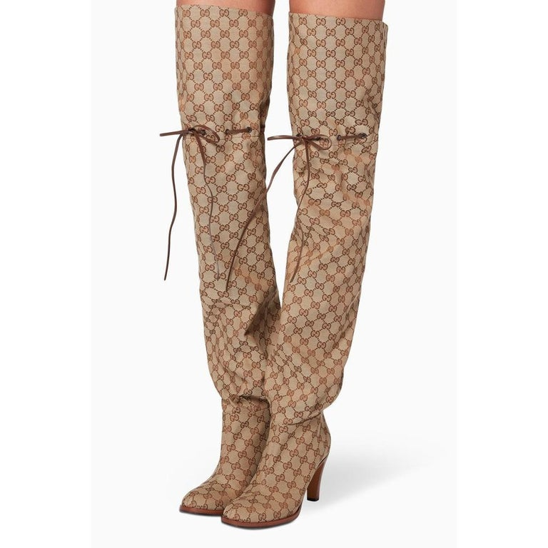 380cd18d5 NEW in box Gucci Original GG Over-the-Knee Boots sz EU35.5 For Sale ...