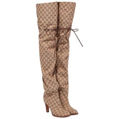 NEW in box Gucci Original GG Over-the-Knee Boots sz EU35.5