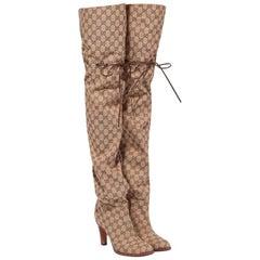 NEW in box Gucci Original GG Over-the-Knee Boots sz EU35.5