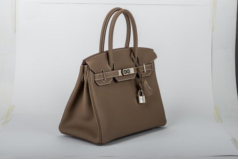 404396c5e9 New in Box Hermes Birkin 30cm Etoupe Togo Bag For Sale at 1stdibs