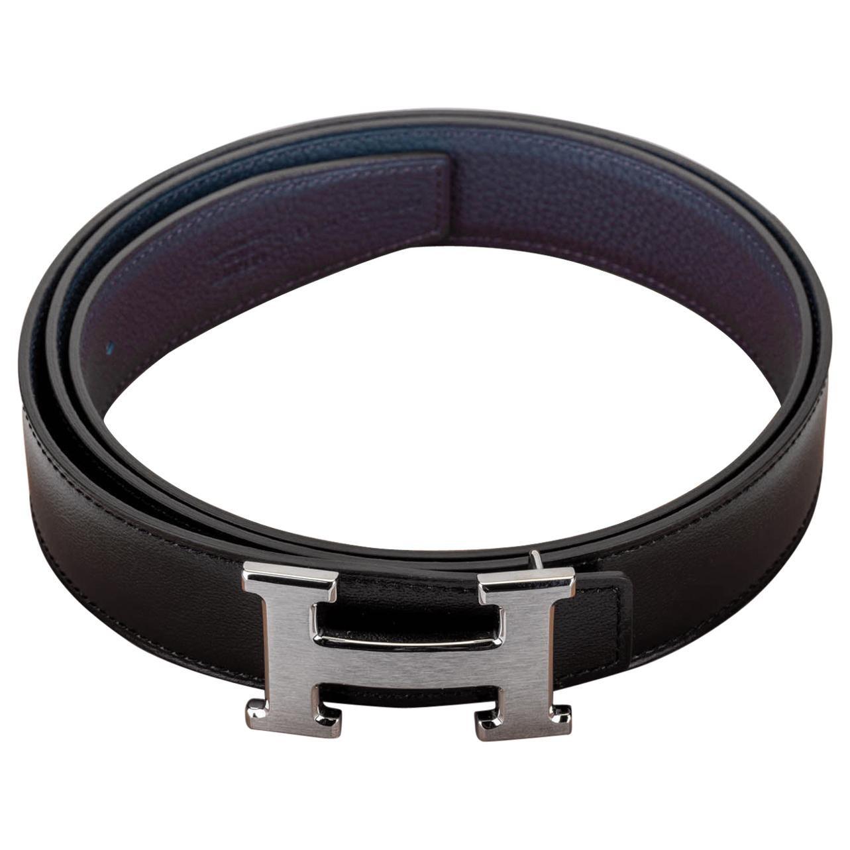 New in Box Hermes Black & Blue H Belt