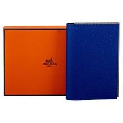 New in Box Hermes Blue Passport Cover Unisex