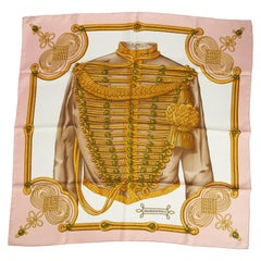New in Box Hermès Brandebourgs Silk Twill Scarf