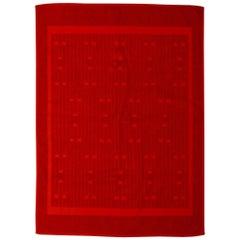 New in Box Hermes Cotton Rust Bathroom Rug