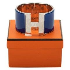 New in Box Hermès Electric Blue Mega Clic Clac Cuff