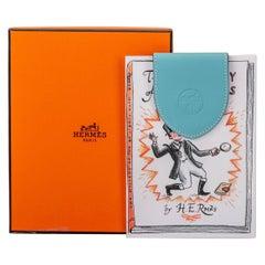 New in Box Hermès Ex-Libris Blue Atoll Bookmark