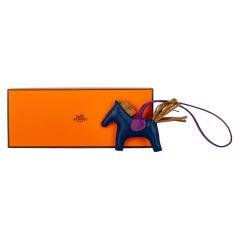 New in Box Hermès Grigri Rodeo Charm PM Blue