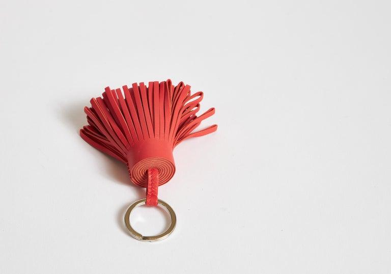 Orange New in Box Hermes Hermes Rose Jaipur Carmen Keychain For Sale