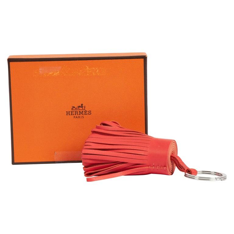 New in Box Hermes Hermes Rose Jaipur Carmen Keychain For Sale