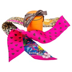 New in Box Hermes Jungle Love Twilly Limited Edition Hearts Scarf