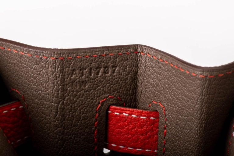New in Box Hermes Kelly 35Cm Horseshoe Etoupe Pivoine Bag For Sale 7