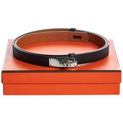 New in Box Hermès Kelly Belt Black Epsom