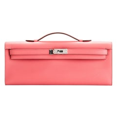 New in Box Hermes Kelly Cut Rose Azalee Swift Bag