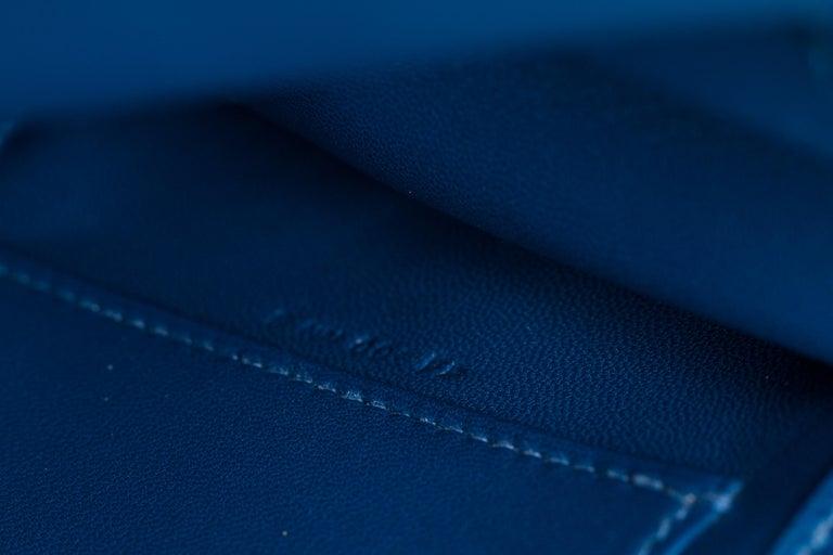 New in Box Hermes Kelly Danse Deep Blue Gold Bag For Sale 5