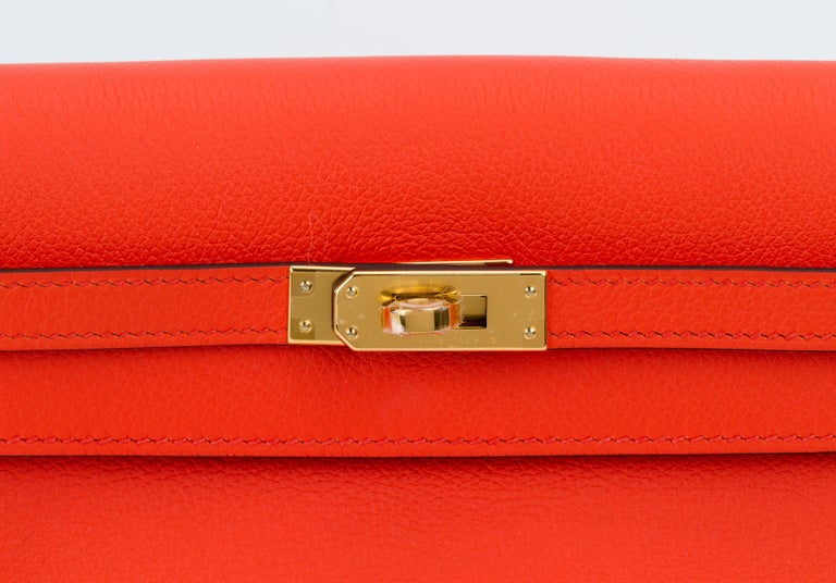 New in Box Hermes Kelly Danse Feu And Gold For Sale 2
