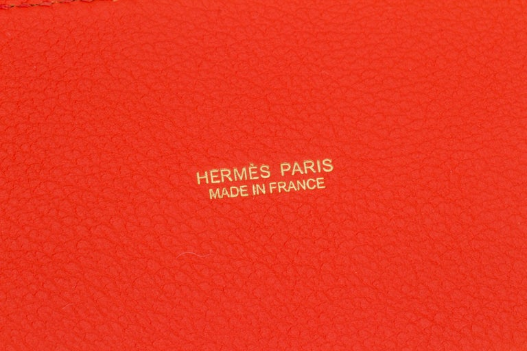 New in Box Hermes Kelly Danse Feu And Gold For Sale 4