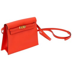 New in Box Hermes Kelly Danse Feu And Gold