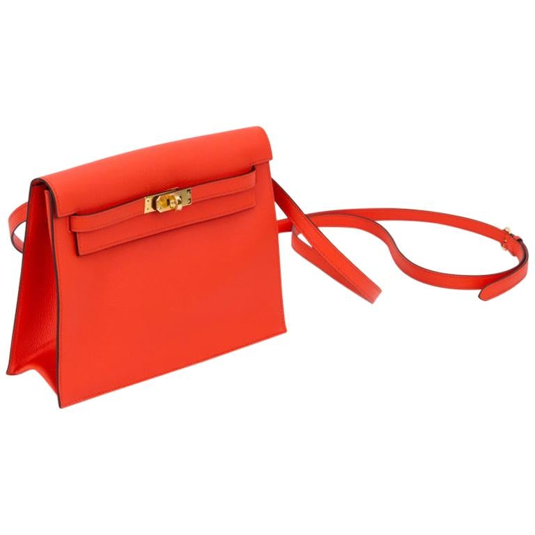 New in Box Hermes Kelly Danse Feu And Gold For Sale