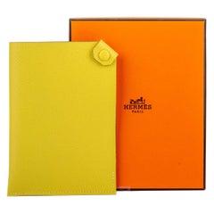 New in Box Hermes Lime Epsom Passport Cover