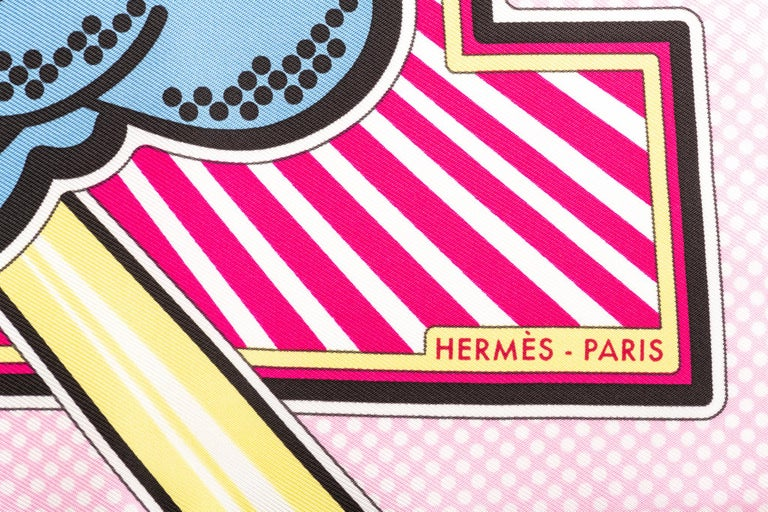 Women's New in Box Hermes Limited Edition Pegase Pop Silk Gavroche Scarf For Sale
