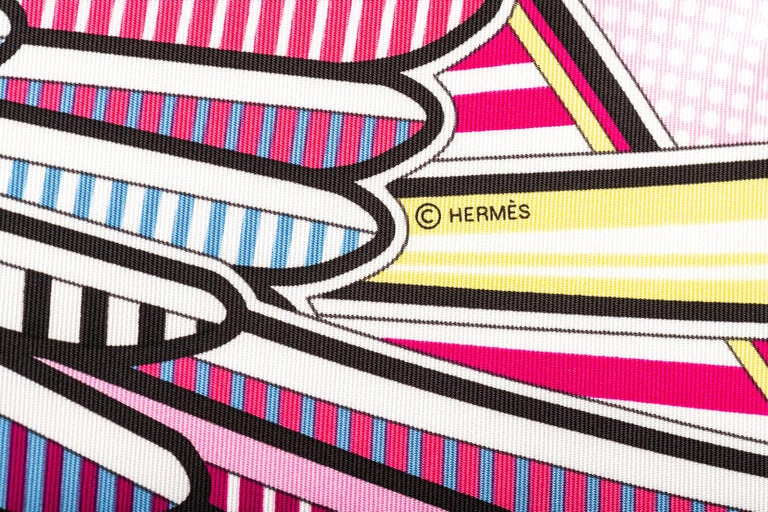 New in Box Hermes Limited Edition Pegase Pop Silk Gavroche Scarf For Sale 1