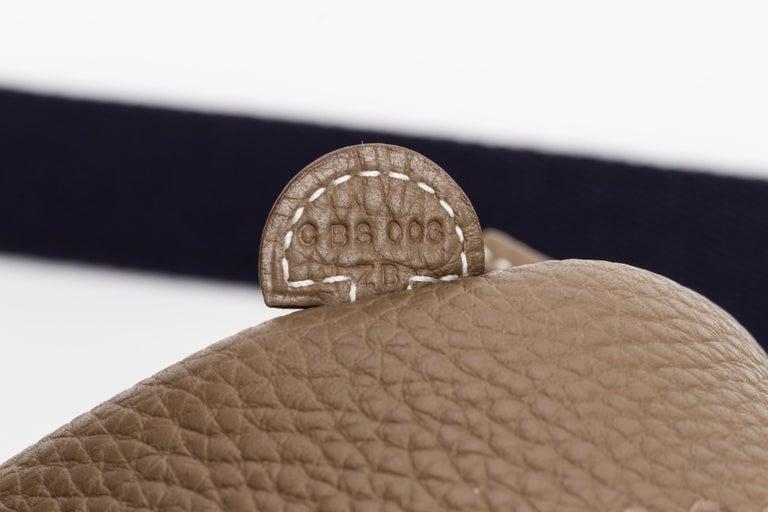 New in Box Hermes Mini Evelyne Etoupe Black Bag For Sale 2