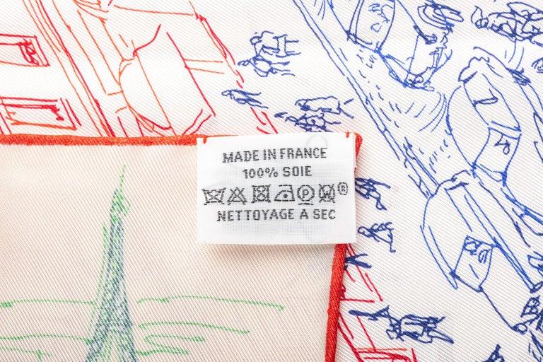 New in Box Hermes Multi Le Jardin Silk Gavroche Scarf For Sale 1