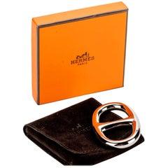 New in Box  Hermès Palladium Scarf Ring