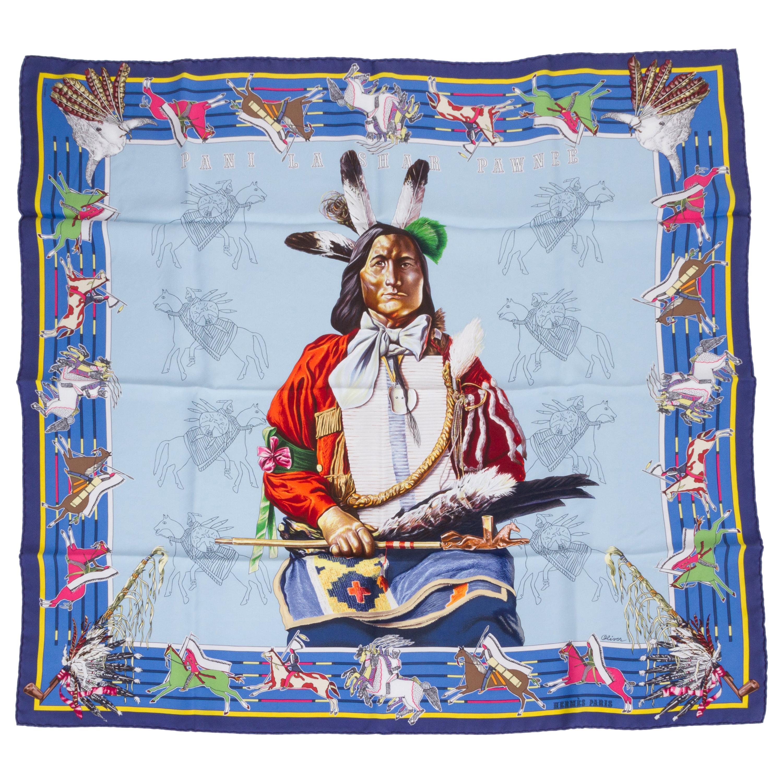 New in Box Hermès Pani la Shar Pawnee Scarf