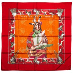 New in Box Hermes Pawnee Bandana Limited Edition Scarf