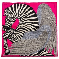 New in Box Hermes Pink Collectible Zebra Pochette Scarf