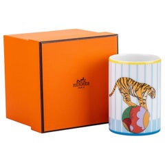 New in Box Hermes Porcelain Tumbler Celeste Circus Cup
