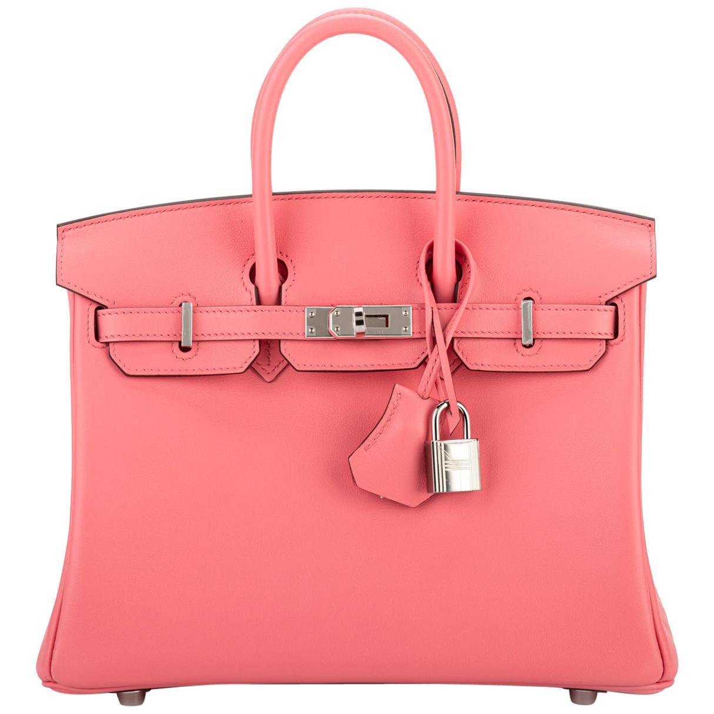 New in Box Hermès Rare Birkin 25cm Rose d Ete' Swift Bag
