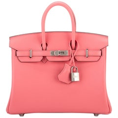 New in Box Hermès Rare Birkin 25cm Rose d Ete' Swift Bag