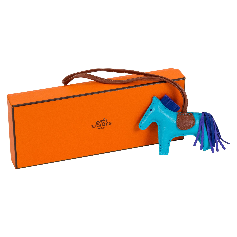New in Box Hermès Rare Grigri Bag Charm Turquoise