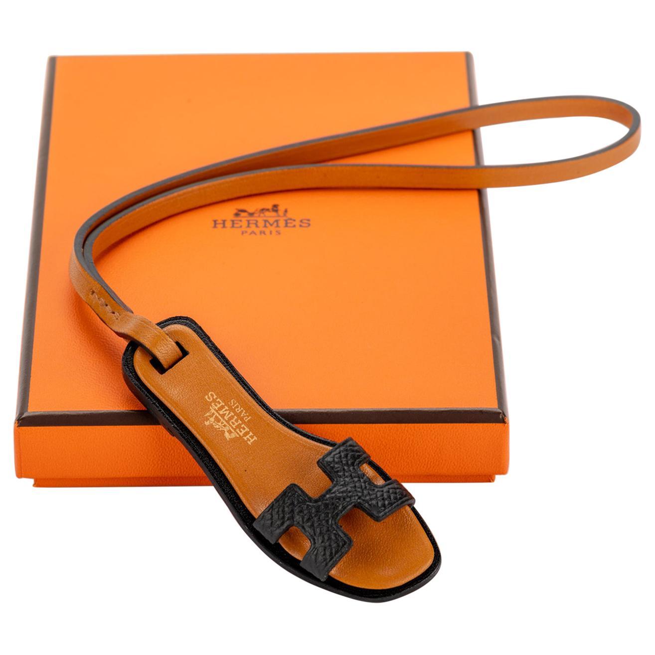 New in Box Hermes Rare Oran Black Bag Charm