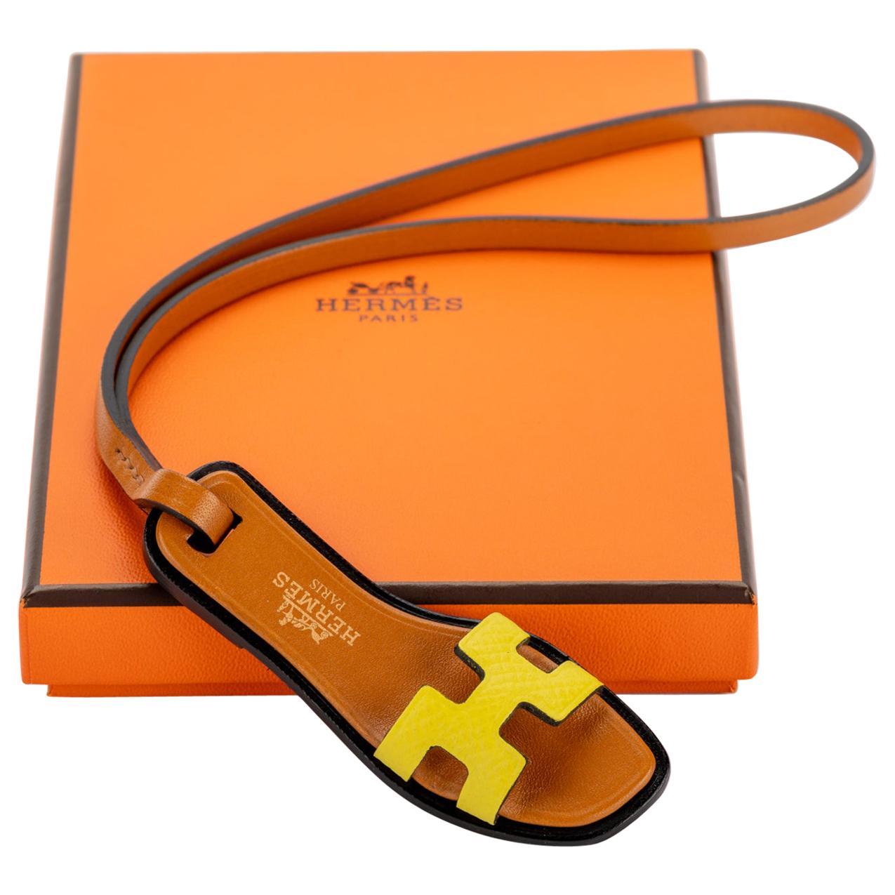 New in Box Hermes Rare Oran Yellow Bag Charm
